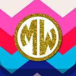 Immagine per Monogram Wallpaper DIY Glitter Backgrounds Maker