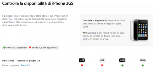 iphone 3gs controlla la disponibilit sul sito italiano On apple sito italiano