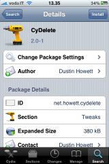 Cydia   Cydelte 2.0 1 mis à jour sur Cydia