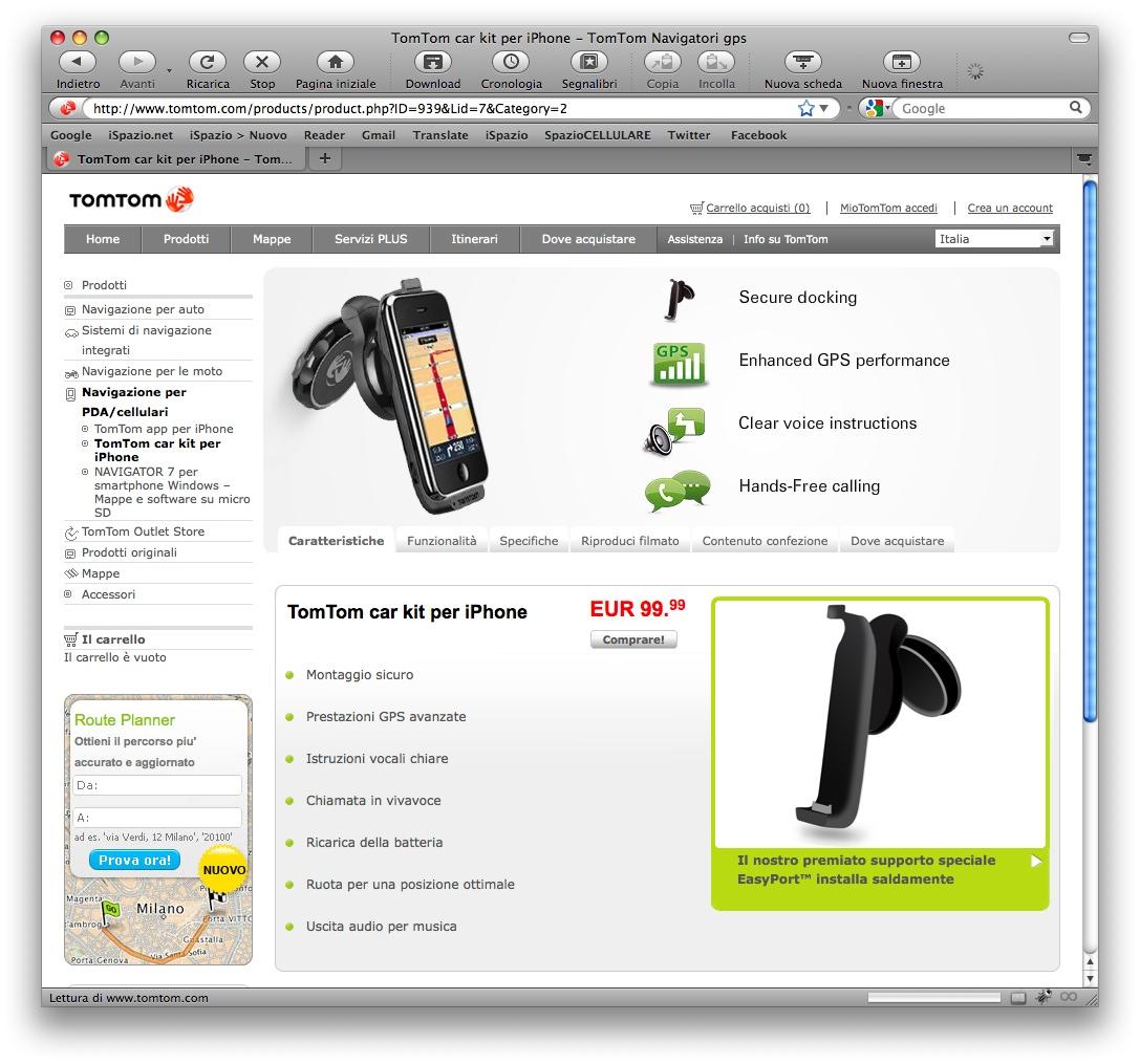 Tomtom car kit disponibile anche sul sito ufficiale a 99 for Amazon sito ufficiale