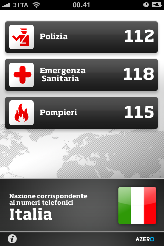 Global sos i numeri di emergenza in base alla nazione in for Numero deputati e senatori italiani