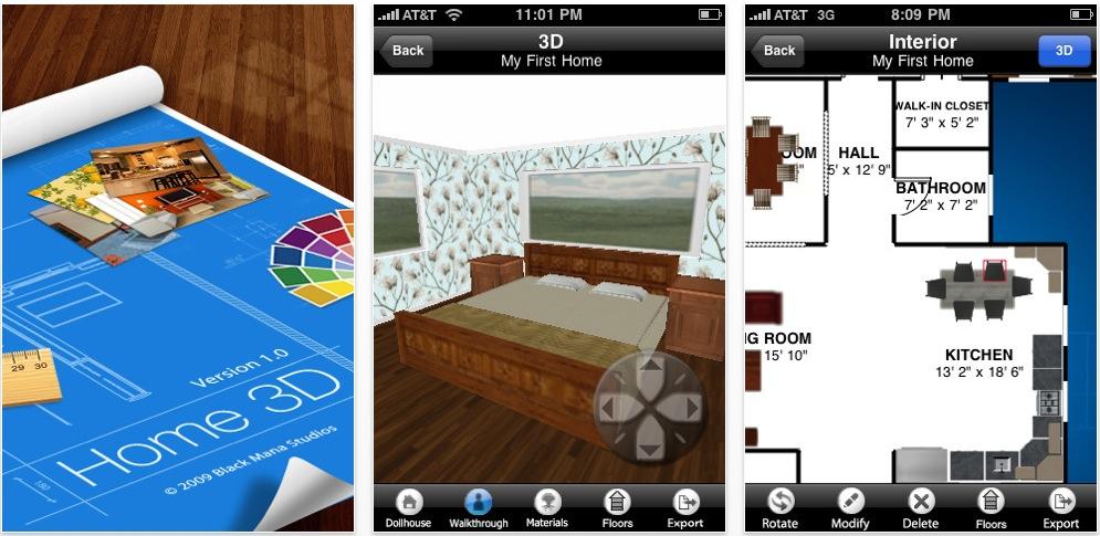 Home 3d una bellissima applicazione per creare la casa dei sogni in 3d su iphone ispazio for Casa dei sogni di design per la casa