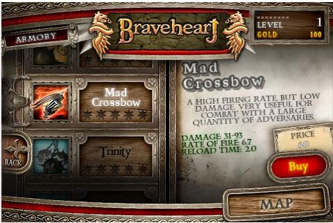 Braveheart arriva su iPhone e iPod Touch in versione completa o LITE