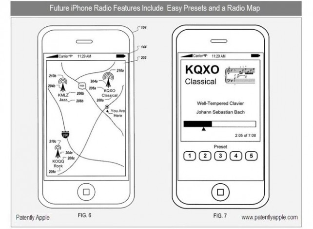 Un nuovo brevetto mostra che Apple è a lavoro su un'applicazione per la Radio con geolocalizzazione.