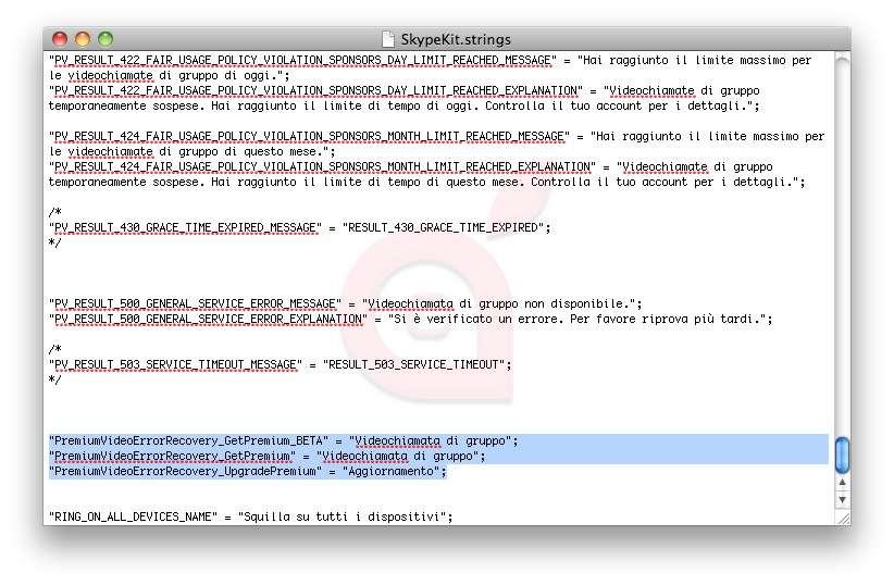Alcune righe di codice presenti nel nuovo Skype per iPhone lasciano presumere l'arrivo di un servizio Premium.