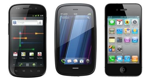 iPhone 4, HP Pre 3 e Samsung Nexus S: mettiamoli a confronto in un unico articolo