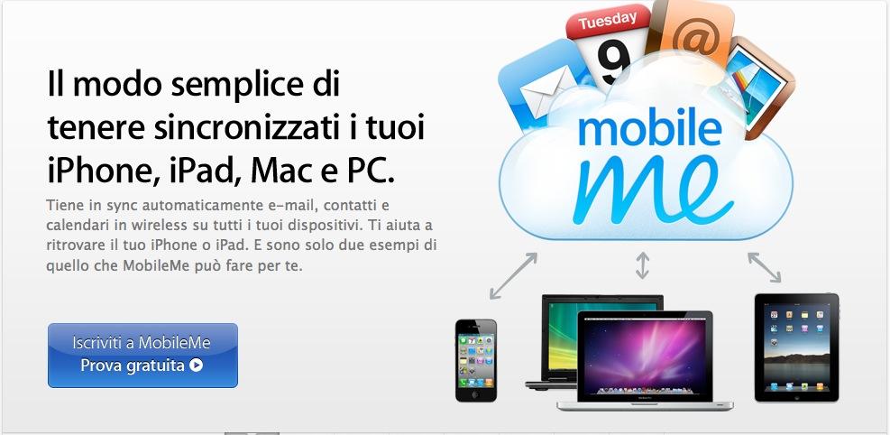 MobileMe è attivabile esclusivamente come prova gratuita [Aggiornato]