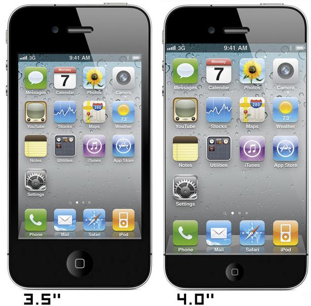 Ecco come sarebbe l'iPhone 5 con un display da 4 pollici   Mockup