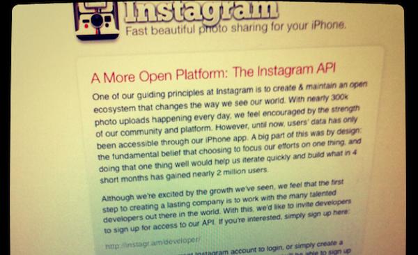 Instagram diventerà una piattaforma aperta con API