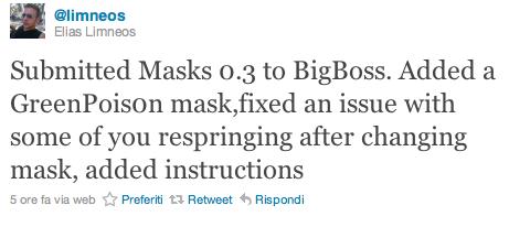 Masks 0.3 a breve disponibile sulla repo di BigBoss con alcune novità
