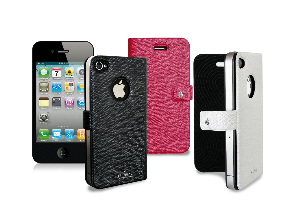 custodia a libro iphone 4