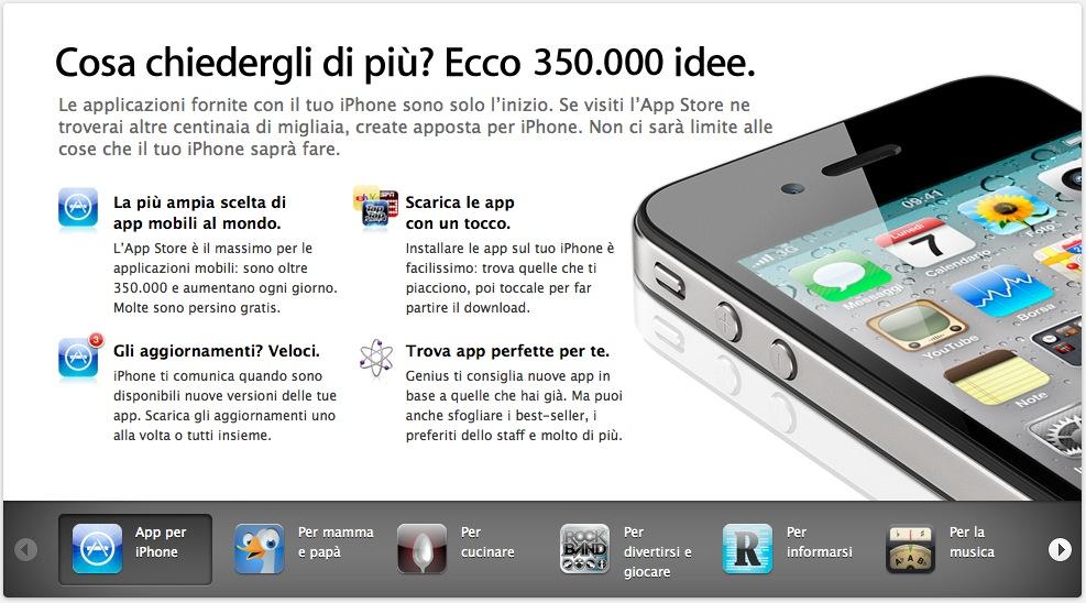 Apple ha aggiornato il sito web dedicato alle applicazioni dell'AppStore