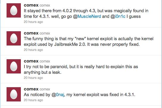 Secondo Comex Apple potrebbe avere degli infiltrati nel Dev Team