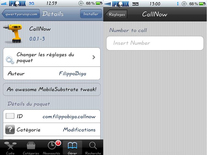 Callnow si aggiorna alla versione 1 1 8 cydia ispazio for Numero per chiamare amazon