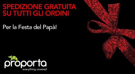 Proporta festeggia tutti i papà d'Italia: spese di spedizione gratuite e sconto del 10%