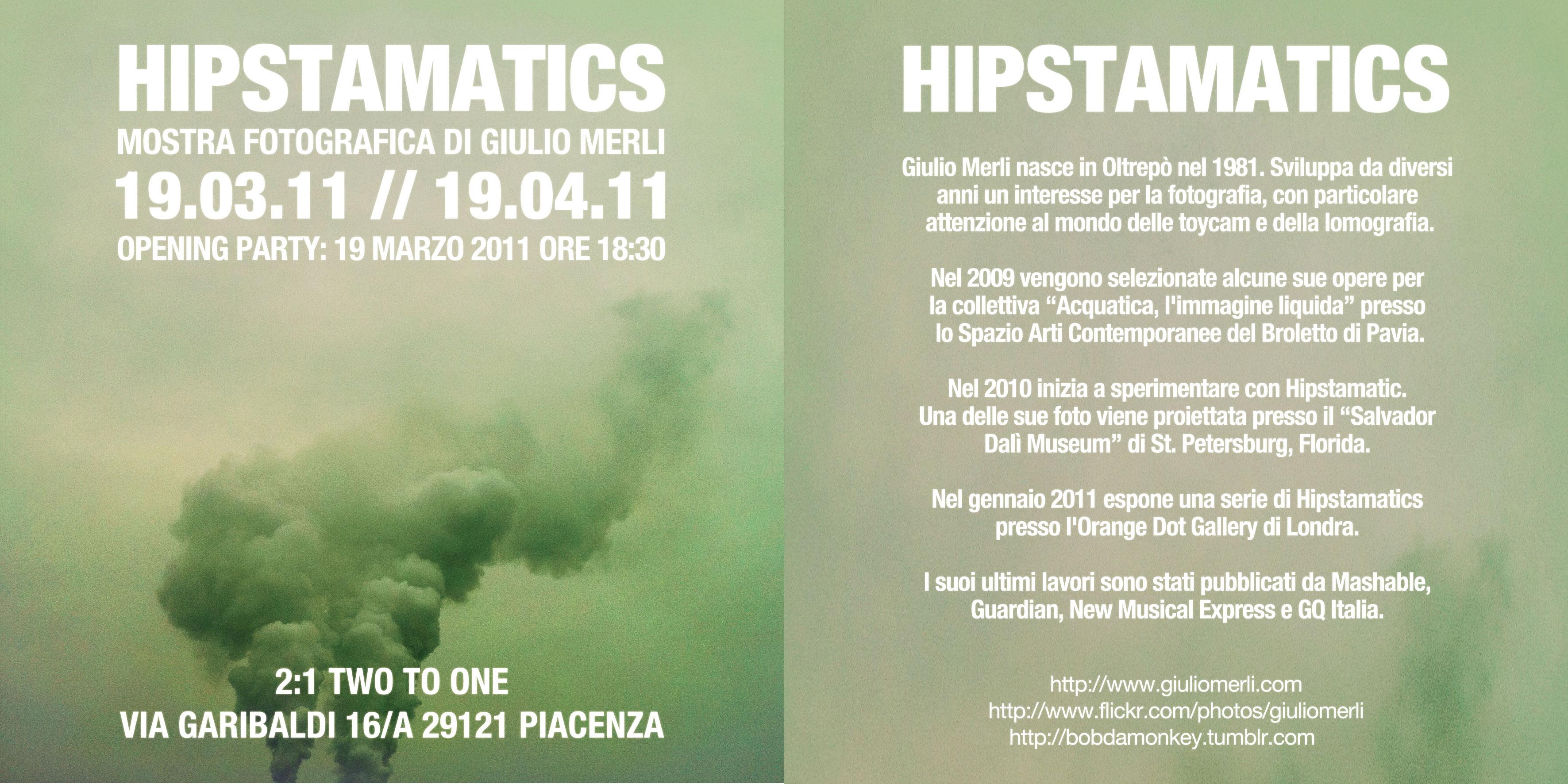 Mostra di fotografie realizzate con Hipstamatic a Piacenza il prossimo 19 Marzo