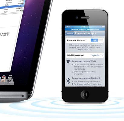 La nuova funzione Personal Hotspot di iOS 4.3 permette di collegare solo fino a 3 dispositivi via WiFi