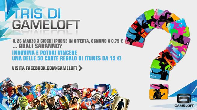 Il TRIS di Gameloft: Un simpatico gioco-contest per vincere 50 iTunes Gift Card da 15€!