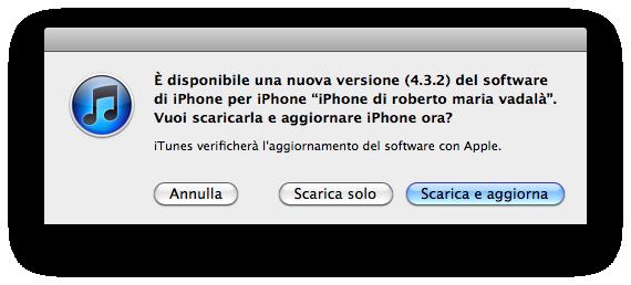 Apple rilascia il nuovo firmware iOS 4.3.2 ecco il Changelog e i LINK per il Download! [AGGIORNATO]