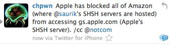 Apple potrebbe aver bloccato completamente l'accesso ai server di Saurik ostacolando in maniera significativa il Jailbreak [AGGIORNATO]