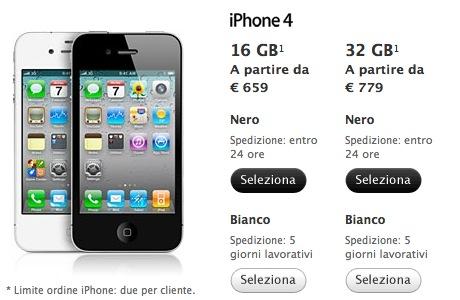 Si allungano i tempi di spedizione degli iPhone 4 bianchi