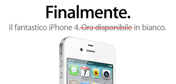 L'iPhone 4 bianco è già Sold-Out in Cina, a Milano scarseggiano i 32 GB.