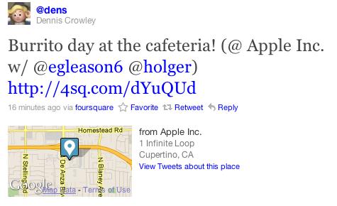 La presenza di alcuni executive di Foursquare nella sede Apple scatena nuove voci su una possibile acquisizione da parte di Cupertino | Rumors