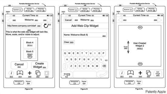Un nuovo brevetto Apple mostra come potrebbero essere i widget su iPhone