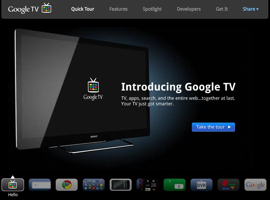 Google I/O: da questa estate la Google TV potrà eseguire applicazioni Android
