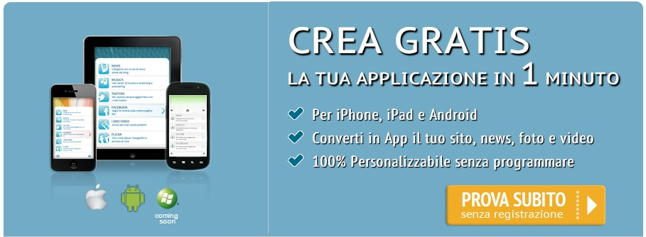 Apps builder crea gratuitamente la tua app tramite il for Crea la tua planimetria gratis