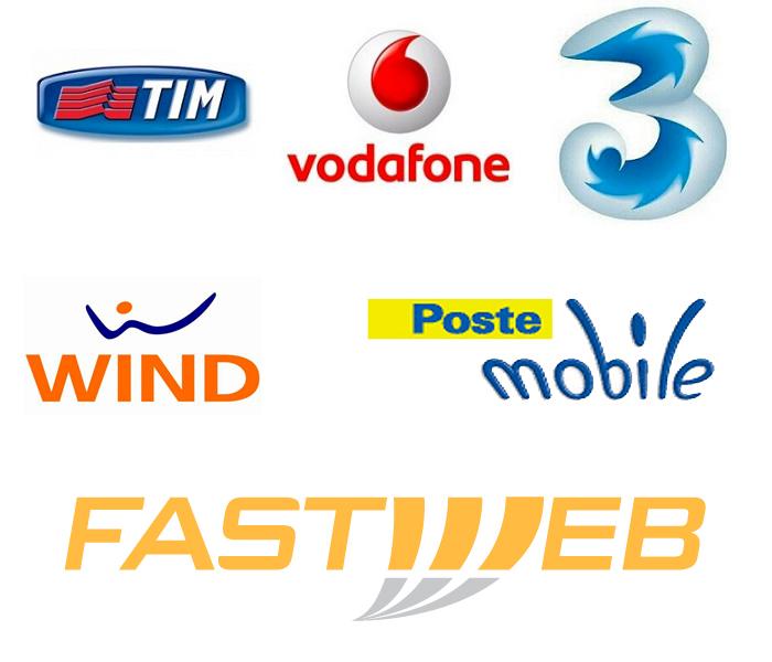Tim vodafone wind 3 italia postemobile e fastweb for Area clienti 3 servizi in abbonamento