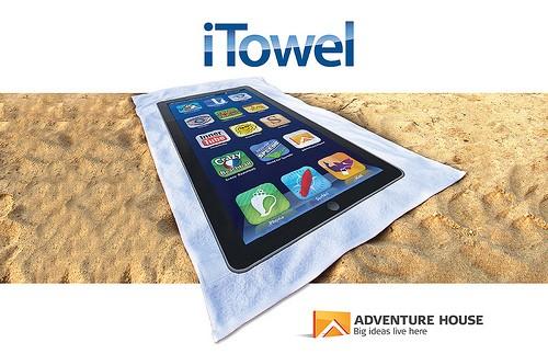 iTowel: l'asciugamano da mare di un vero Apple fan!
