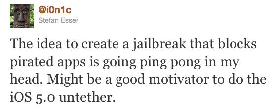 Il Jailbreak untethered per iOS 5 potrebbe bloccare la pirateria
