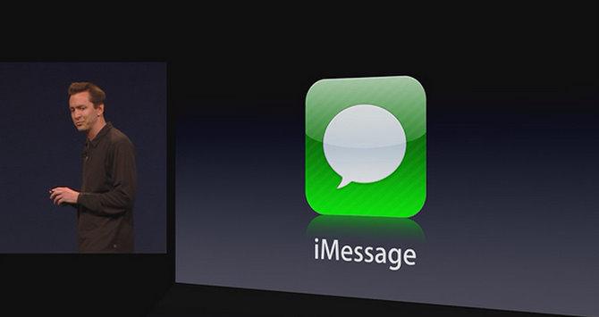WWDC-2011-keynote-Scott-Forstall-iOS-5-iMessage-logo-slide