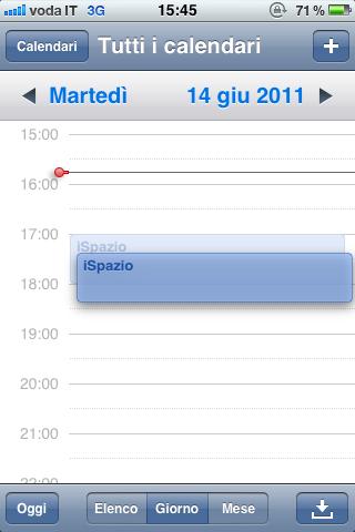 iOS 5 porta il Drag & Drop negli eventi del calendario!
