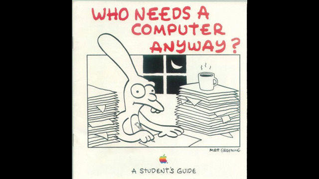 Lo sapevate che Matt Groening prima dei Simpsons aveva fatto dei lavori per Apple?
