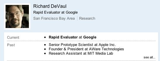 Ennesima perdita per Apple: ora é il turno di Richard DeVaul, che passa a Google!
