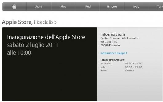 L'Apple Store Fiordaliso pronto per l'inaugurazione di domani