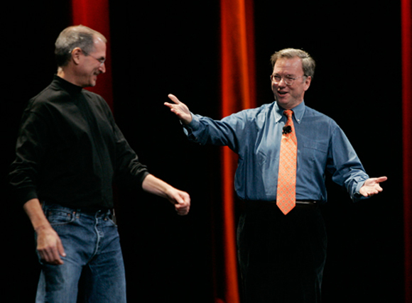 Il presidente di Google, Eric Schmidt, accusa Apple di gelosia e mancanza di innovazione