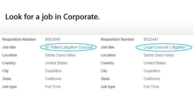 Apple alla ricerca di avvocati esperti per le proprie cause