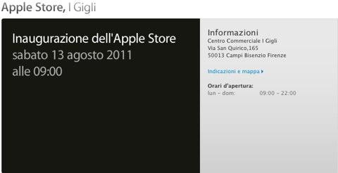Ufficiale: il nuovo Apple Store di Firenze aprirà il 13 Agosto!