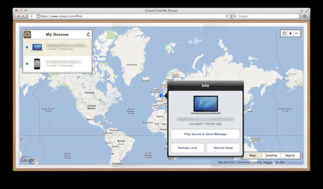 Apple rende disponibili su iCloud i servizi Find my iPhone e Find my Mac