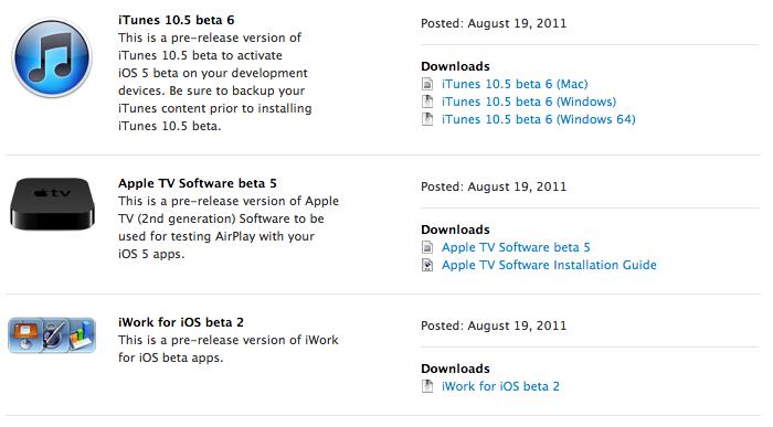 Apple rilascia iWork per iOS Beta 2, Xcode 4.2 DP 6 e la Beta 5 di Apple TV agli sviluppatori