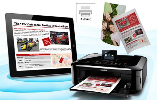 Canon adotta la tecnologia AirPrint sulle stampanti PIXMA