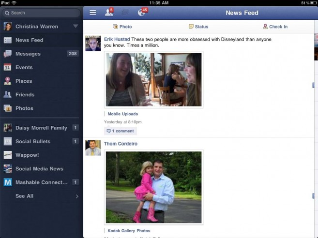 Facebook per iPad e Project Spartan verranno lanciati in contemporanea la prossima settimana
