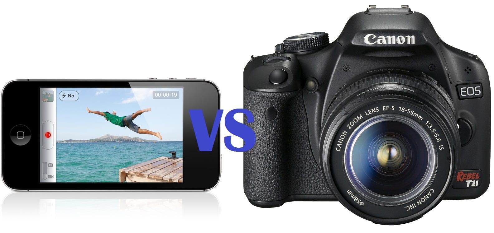 Confronto video tra iPhone 4S vs Canon 500D/T1i [Video]