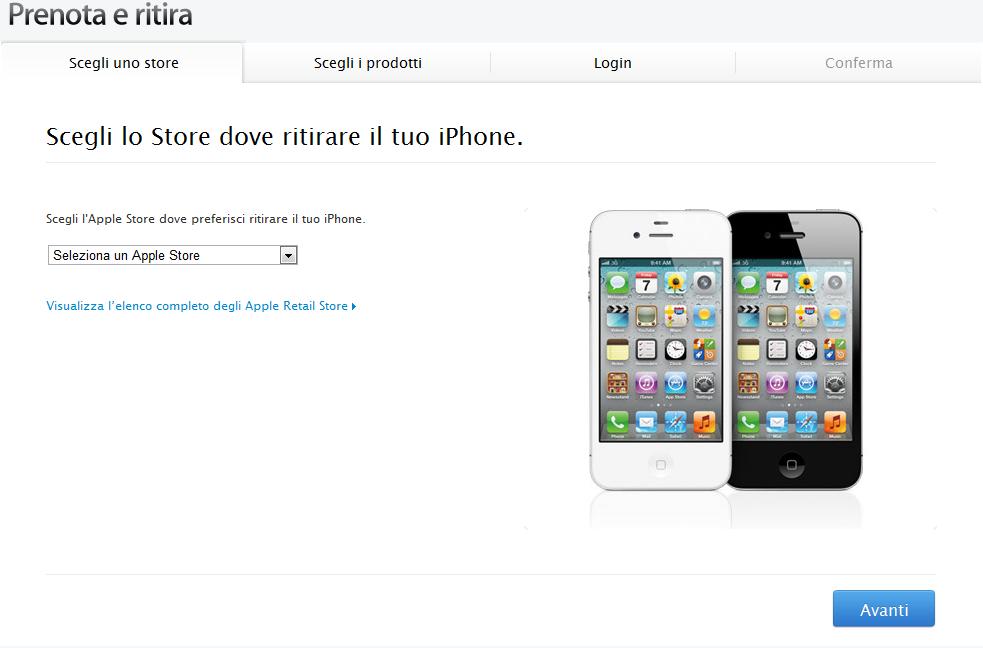 Pronto anche in Italia il servizio di prenotazione dell'iPhone 4S
