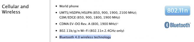 L'iPhone 4S presenterà il Bluetooth 4.0