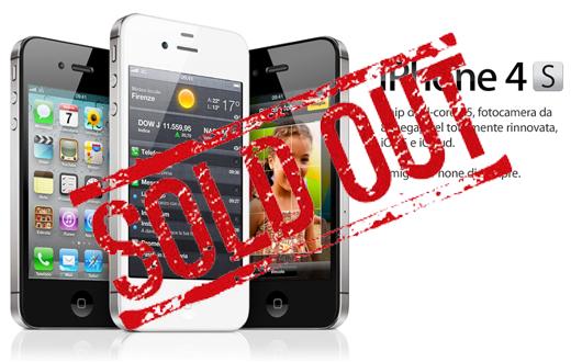 iSpazio vi informa sulle disponibilità di iPhone 4S negli Apple Retail Store italiani: Sold Out (quasi) ovunque