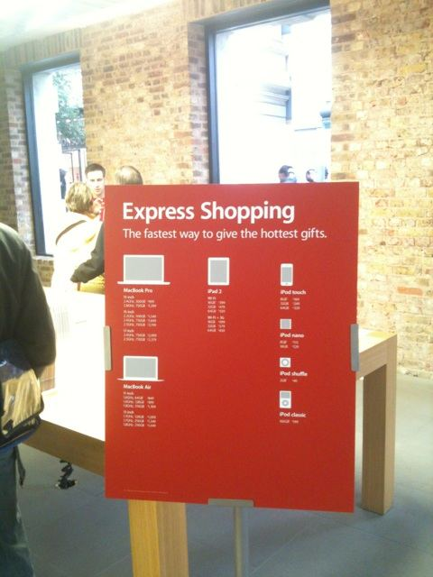 All'Apple Store di Covent Garden arriva l'Express Shopping!